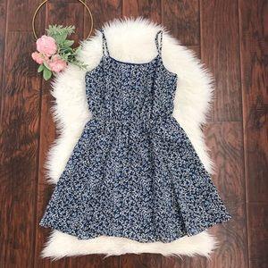 NEW J. Crew Factory Blue Floral Slip Mini Dress